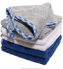 Quick absorb waffle weave fleece plush drying hand towel microfiber towel kitchen wiper cloth
