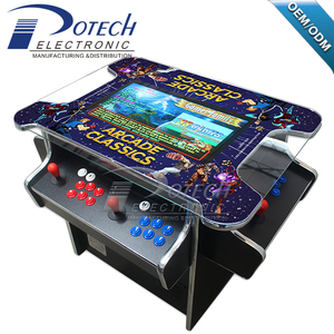 22 inch 3 sides 4 player cocktail table machine bartop arcade games cabinet