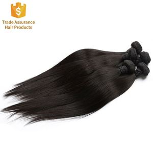 Wholesale Large Stocks Unprocessed Brazilian 100% Human Virgin Remy Hair Weaving No Tangle No Shedding