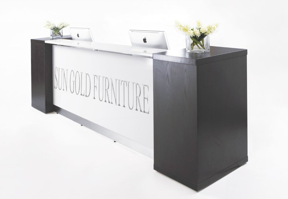 beauty salon small white reception desk sz rt015 buy. Black Bedroom Furniture Sets. Home Design Ideas