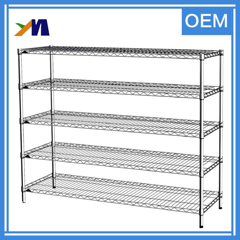 Warehouse carbon steel wire mesh garage storage large capacity shelf