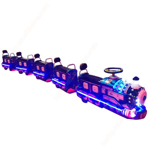 Amusement theme park mini tourist trackless train ride for sale