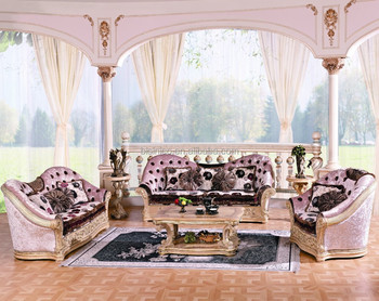 Luxury Classic European Style Living Room Set/Traditional Victorian Style  Palace Sofa Set/Queen Upholstered Fabric Tufted Sofa, View queen victorian  ...