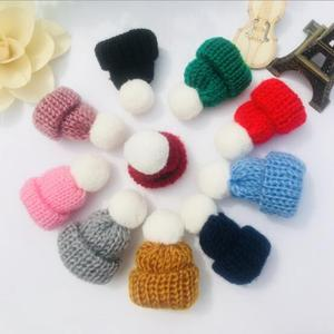 Mini Knitted Hats with Pom Pom Ball for Decoration