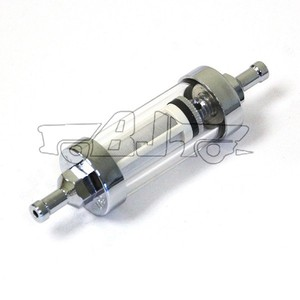 "BJ-FF-2004 High quality 6mm 1/4'' short 1/4"" motorcycle glass fuel filter"