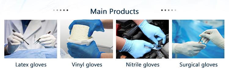 Disposable food service gloves handling examination latex