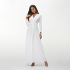 TOM1071 White Dress Cloths Dress Woman Plus Size Clothing Drop shipping 2018 Autumn Long Sleeve Long Dress
