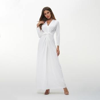 Tom1071 White Dress Cloths Dress Woman Plus Size Clothing Drop Shipping  2018 Autumn Long Sleeve Long Dress - Buy Long Sleeve Long Dress,White Dress  ...