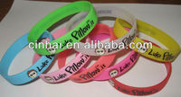 factory directly cheap sell custom-made printed silicone wristbands no minimum