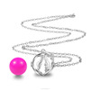 Face Cage Women Jewelry Cage for Harmony Bola with Mexican Bola Necklace Sound Musical Bola Jingle Bell Necklace K117Y