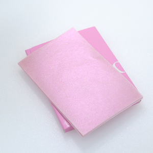 pink color facial face cleanser tissue eye shadow blush paper