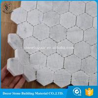 Most favorable 2'' hexagon mosaic tile sheets for bathroom China Factory