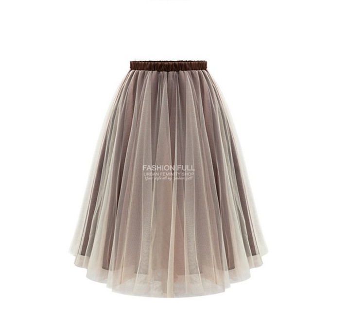 Plus Size 2015 Summer Style High Waist Mesh Skirts Womens Summer Skirt  2015 Summer Ball Gown New Hot Selling  saias femininas