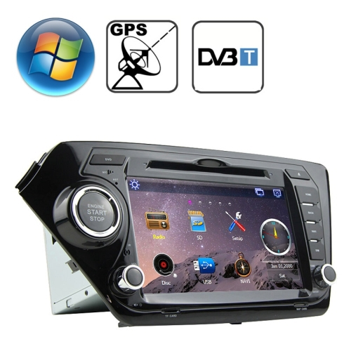 8.0 inch Windows CE 6.0 TFT Screen In-Dash Car DVD Player with Bluetooth / GPS / RDS / DVB-T
