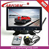 China 2014 new product remote control two way vedio input 7 inch tft car monitor rear view system with camera