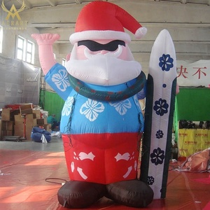christmas inflatable surfing santa, outhouse christmas inflatable decoration