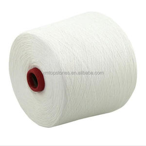 Wholesale pure white Recycled ring spinning CVC cotton blended yarn 16s for knitting machine