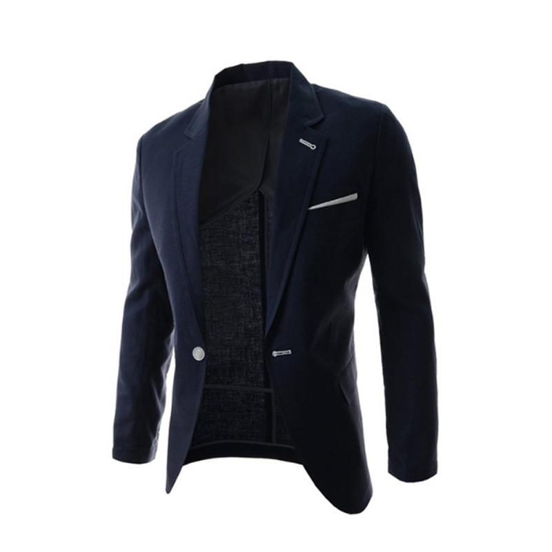 e9a0227cd424 Get Quotations · 2015 New Arrival Fashion Men Blazer Casual Business Blazer  Men Outwear Slim Fit Mens Blazers Suit