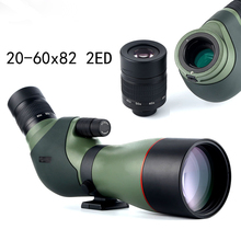 High Resolution 20-60X 82 ED2 Spotting Scope - 45 Degree Angled Telescope Spotting Scope With Portable Tripod