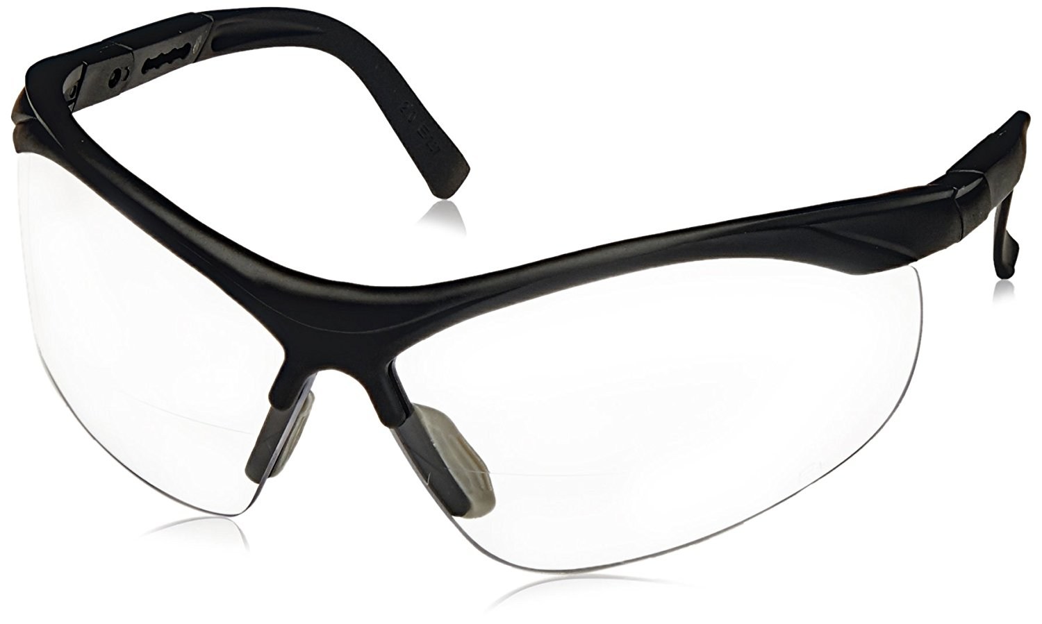 48e50f1c0d70 Get Quotations · ERB 16872 ERBx Safety Glasses with +2.0 Bifocal Power,  Black Frame with Clear Lens