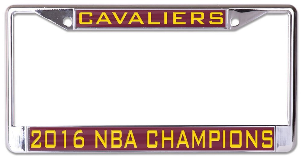 CLEVELAND CAVALIERS 2016 NBA CHAMPS Inlaid Metal License Plate Frame