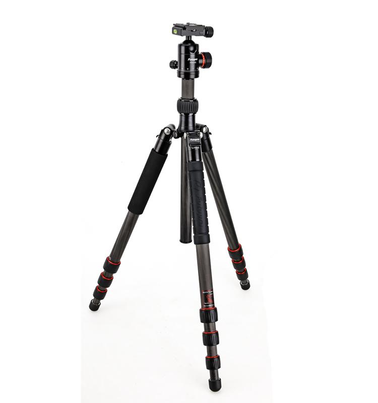 Fotopro ağır dslr karbon fiber kamera tripodu x-go max