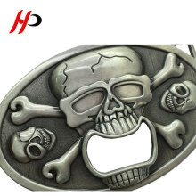 Fashion Zinc Alloy Knife Logo Italy Skull Tactical Belt Buckle Beer