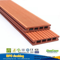 engineered plastic composite wpc decking wood plastic floor boards for outside