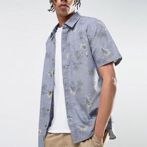 c276bbe5 2018 mens summer wear beach style print hawaiian shirts wholesale with polo  neck