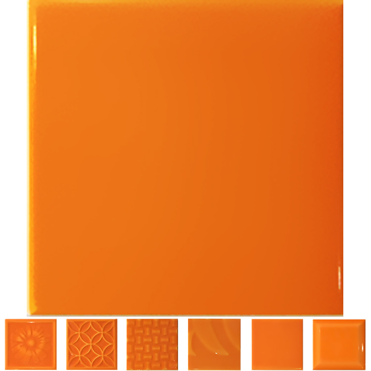 Platz wand gl nzend orange farbe glasierte bad fliesen foshan innen 10x10 fliesen pozellan - Orange fliesen ...