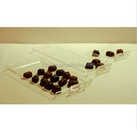 chocolate candy tray acrylic showcase display case for retail stores 10 per box