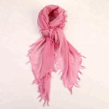 Women 100% Pure Cashmere Scarf Fringed Cashmere Muffler Shawl