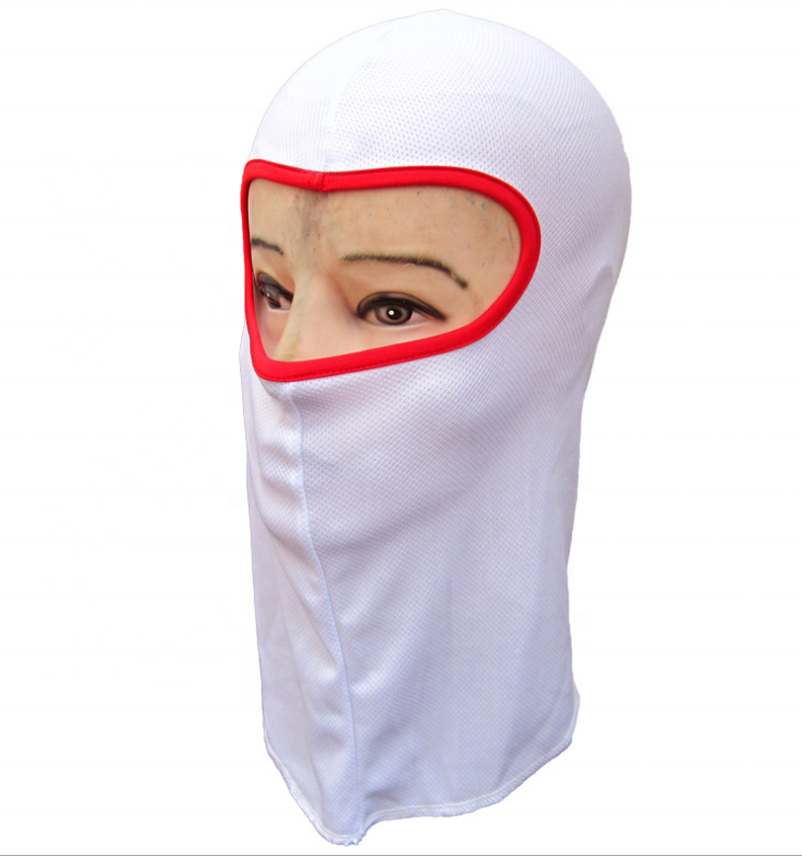 Wholesale Unisex Polyester Summer White Ski Mask Balaclava Cycling Motorbike Sun Protection Hood Balaclava