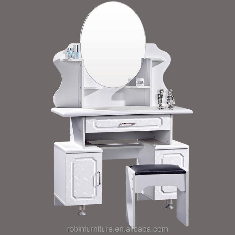 Moderno diseño simple de madera espejo tocador para muebles de ...