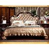 European style bedroom furniture classical leather bed,Antique luxury top quality bed set