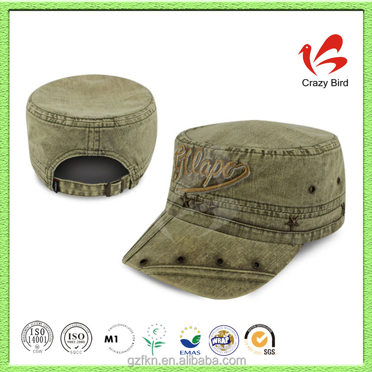 Fitted wool military guard security baseball cap