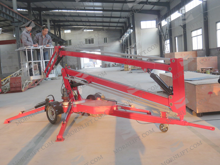 Construction Lift Arm : M to towable trailer mounted mini boom lift buy