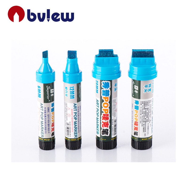 Refillable permanent ink 6mm pop advertising marker pen for painting