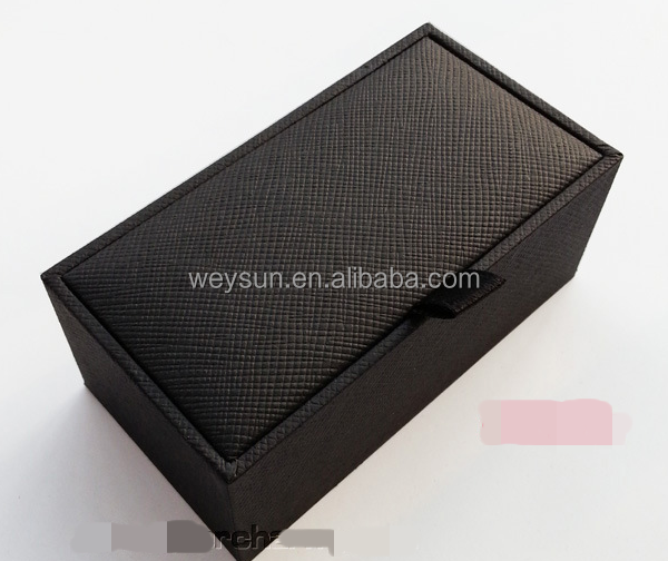 Black Grey Paper Cufflink Boxes