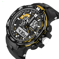 New Male Fashion Wristwatch Sport Waterproof 30M Dive Quartz Digital Analog Led Clock Sanda Brand Luxury Military Men Watch