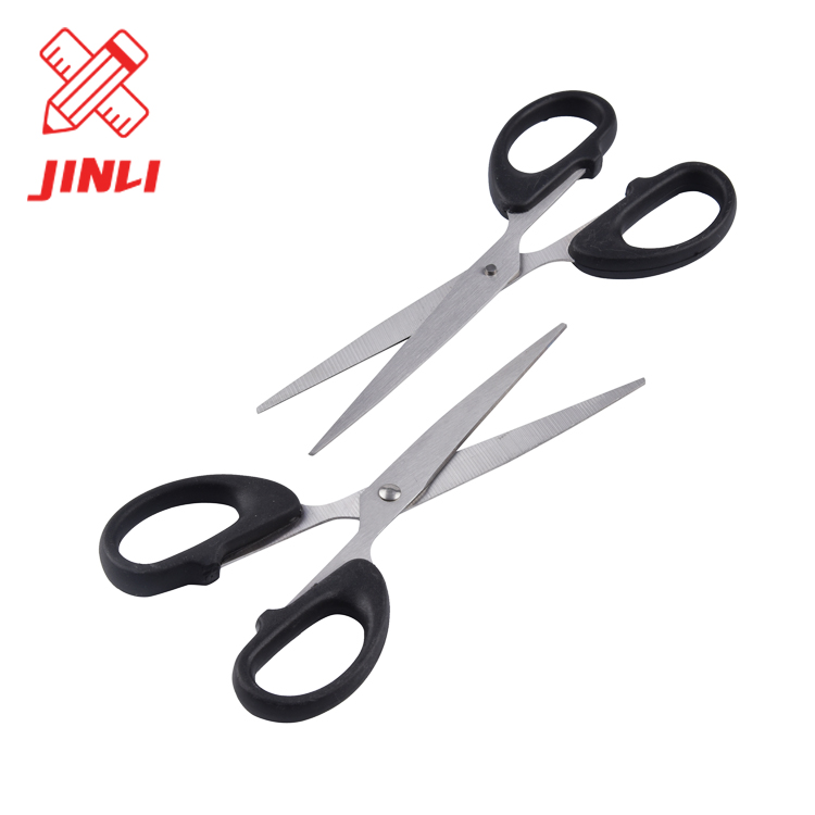 Factory cheap price safety popular stationery PP handle student office supplies high quality black kids scissors