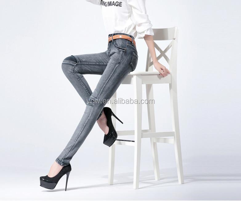 Mujer De Moda De Cuero De Costura Diseño Pantalones Vaqueros/nuevo ...