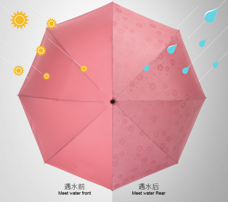 High Quality Windproof Inverted Fashion straight colour changing umbrella