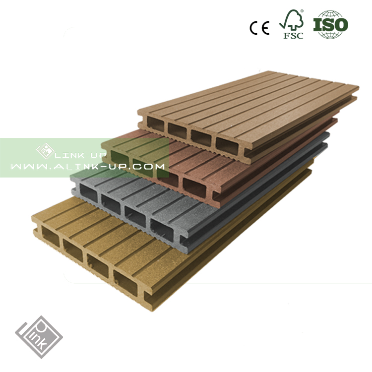 Outdoor crack-resistant hollow wpc boards prices wood plastic composite cedar decking boards