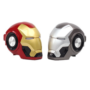 Wholesale Portable USB charging Iron Man Profile Car Speaker Mini Wireless Bluetooth Speaker