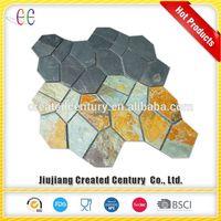 2017 best selling slate pave stone tumbled stone