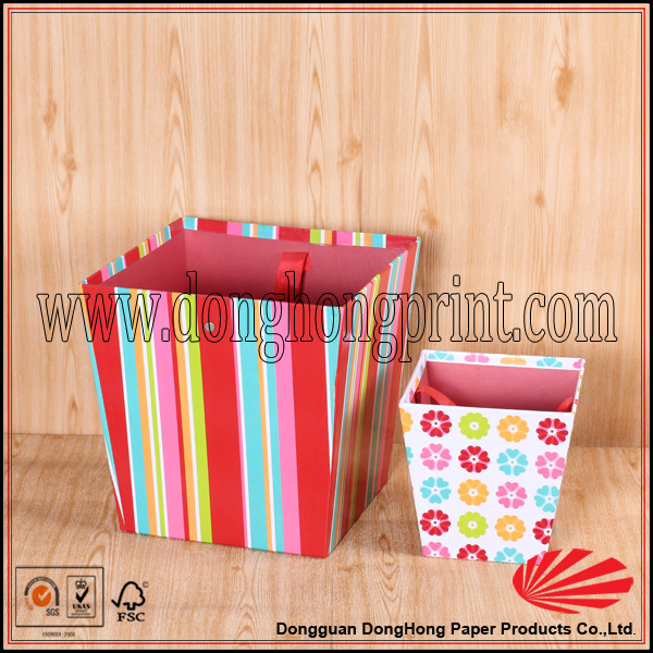 New popular shopping boxes packaging kraft paper box china