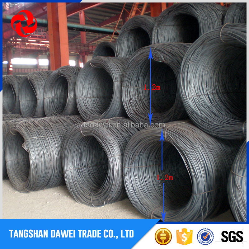 Tangshan Mills Wholesale 6.5mm Hot Rolled MS SAE 1008 Steel Wire Rod