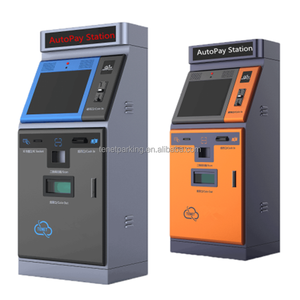 Automatic pay station stand-alone terminal support ticket barcode scan / rfid card parking system to charge parking fee