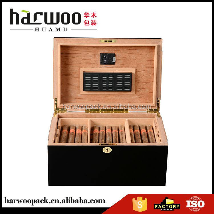 Factory Supply special design gift and premium cigar humidor with different size